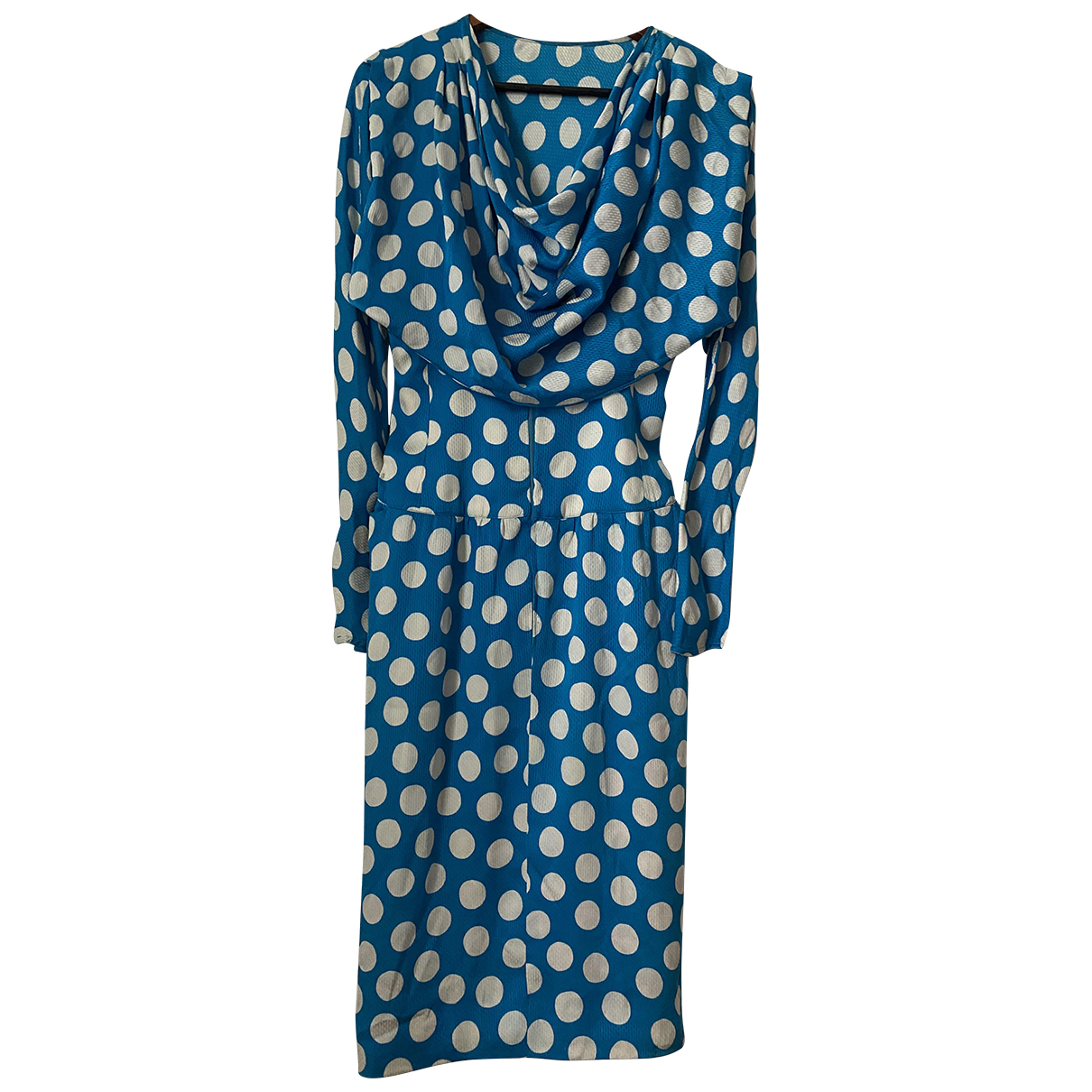 Emanuel Ungaro N Blue Silk dress for Women 8 UK