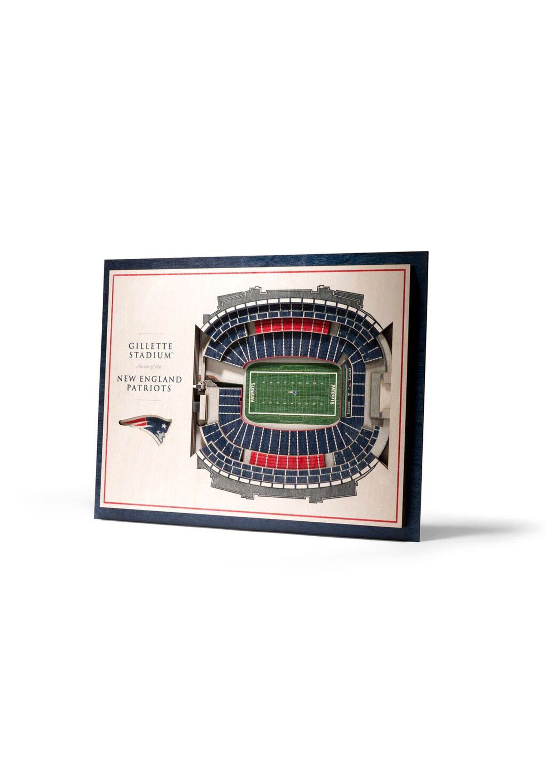 New England Patriots Stadiumviews 5 Layer 3D Wall Art