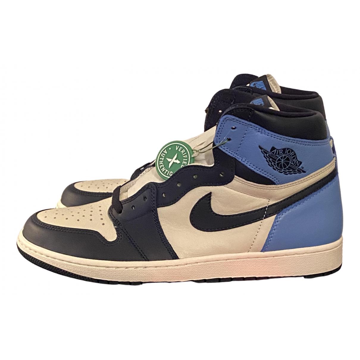 Jordan Air Jordan 1  Blue Leather Trainers for Men 12 US
