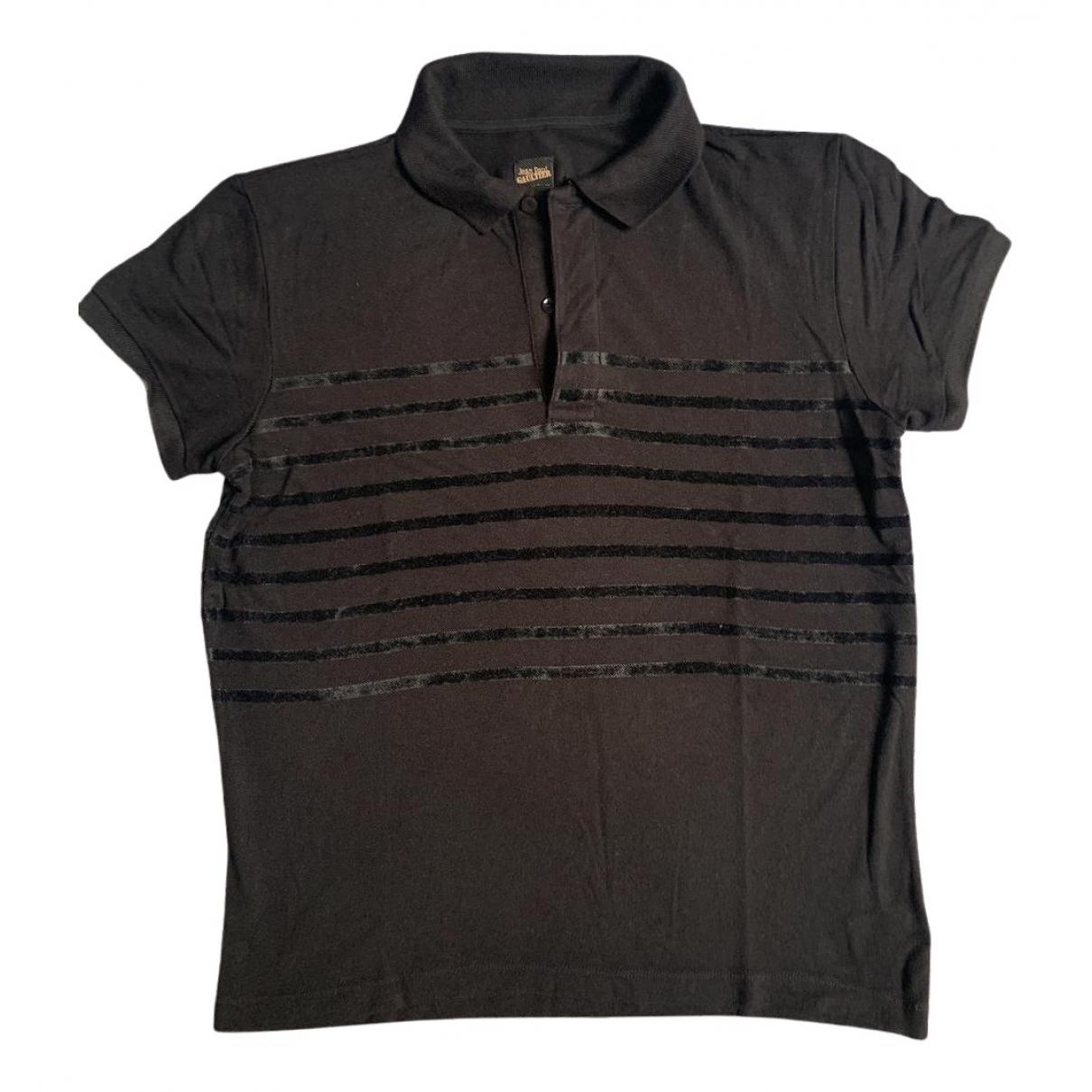 Polo en Algodon Negro Jean Paul Gaultier
