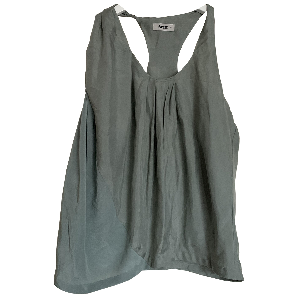 Acne Studios \N Green Silk  top for Women 34 FR