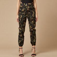 Flap Pocket Camo Cargo Pants