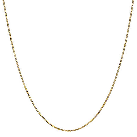 14K Gold 16 Inch Solid Box Chain Necklace, One Size , No Color Family