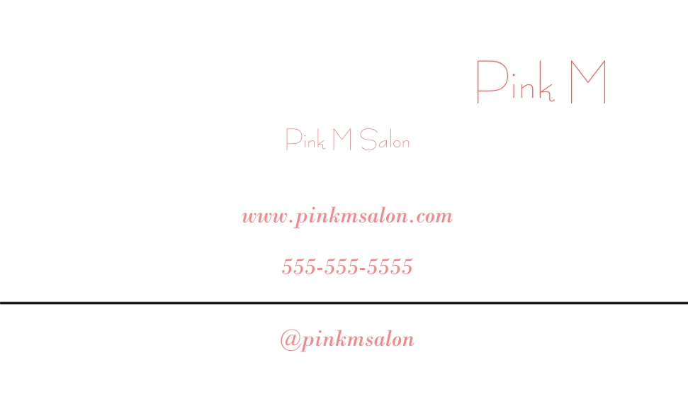 Beauty & Spa Business Cards, Set of 40, Rounded Corners, Card & Stationery -Pink Model
