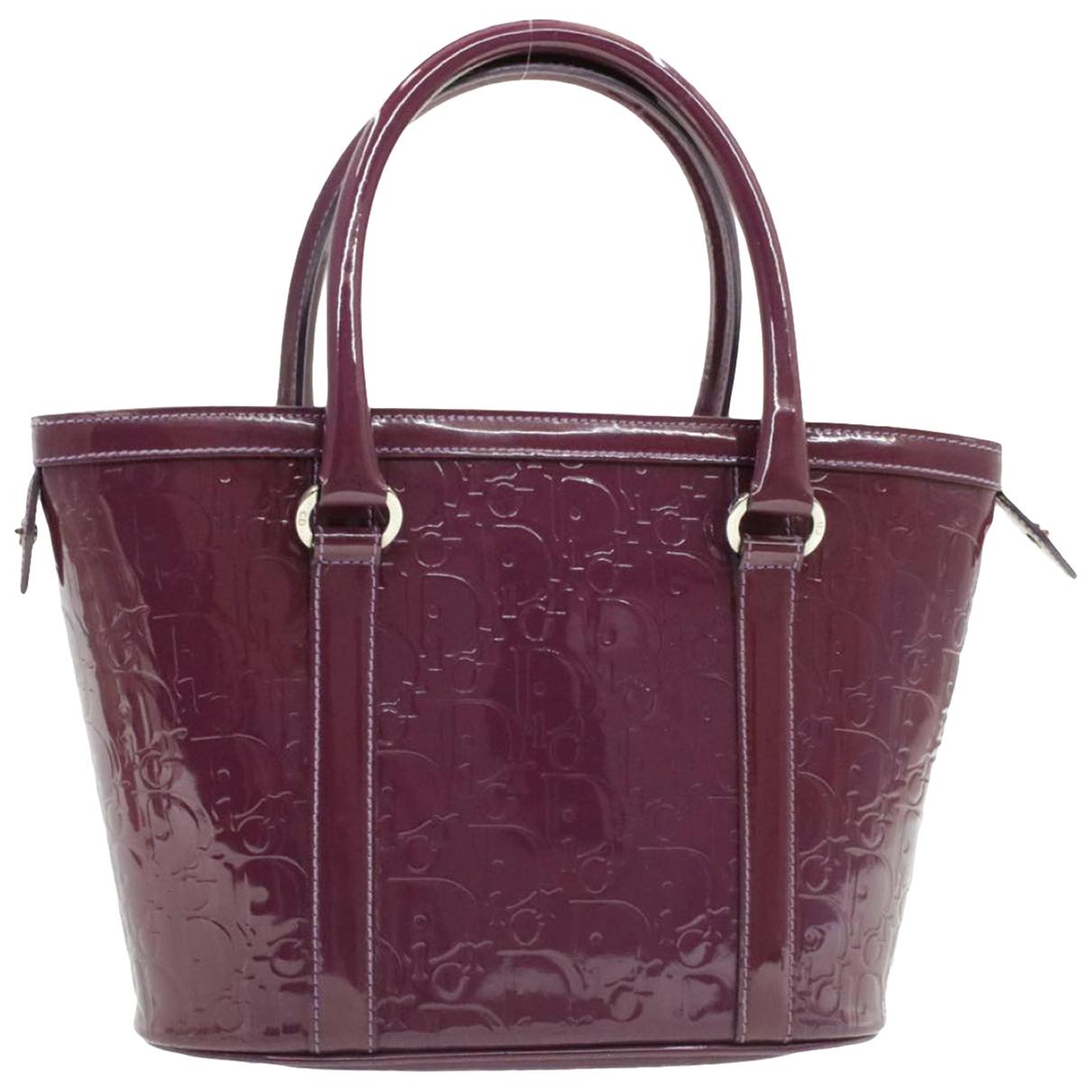 Christian Dior \N Handtasche in  Lila Lackleder