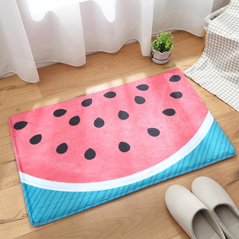 Watermelon Pattern Machine Made Water Absorption Area Rug