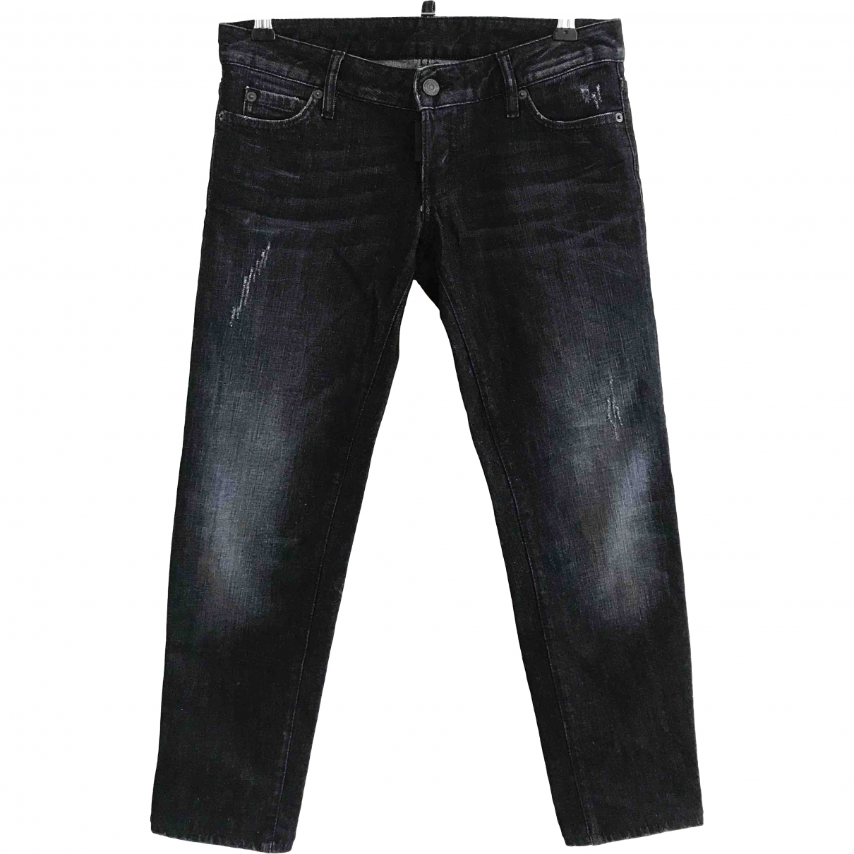 Dsquared2 \N Black Cotton Jeans for Women 42 FR