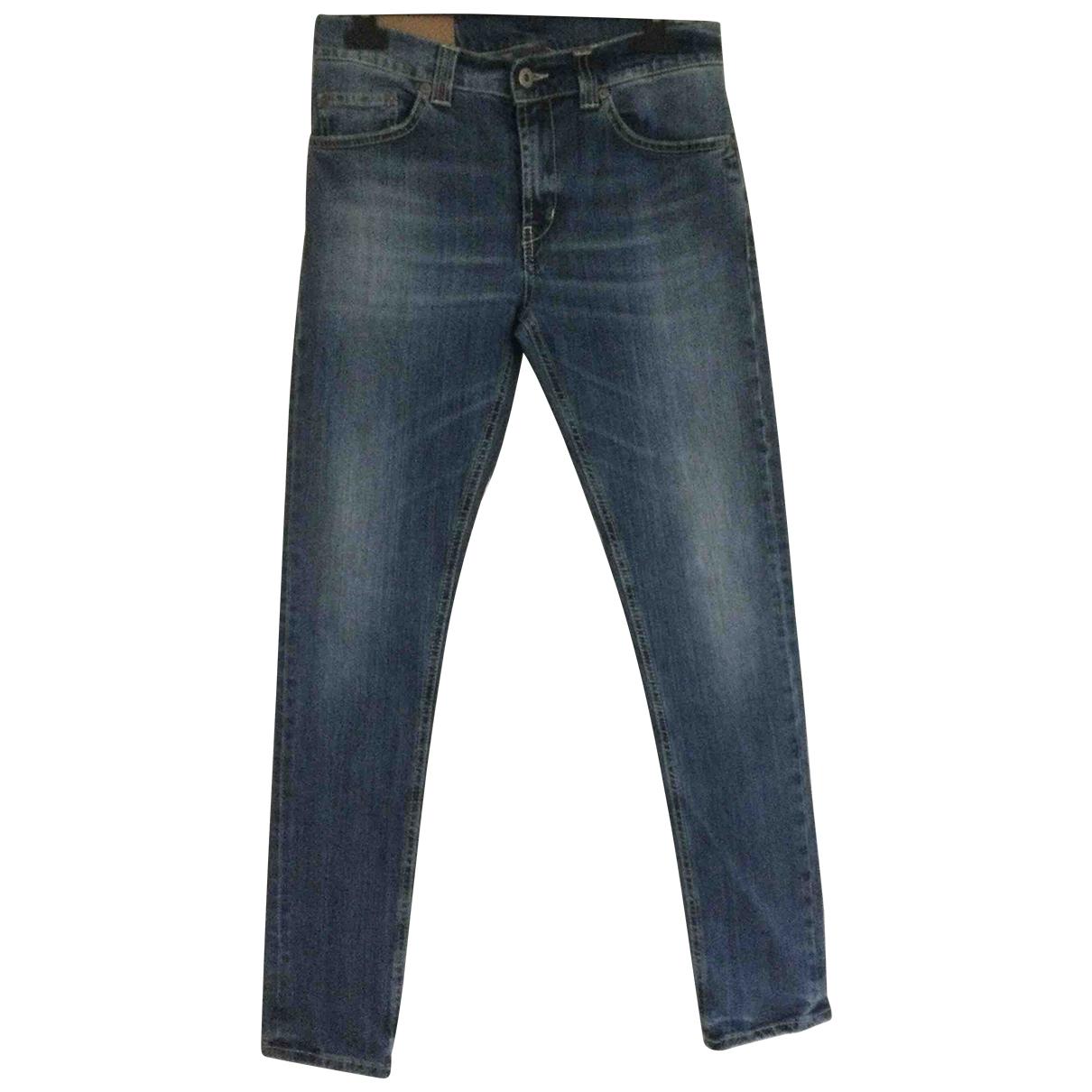Dondup N Blue Cotton - elasthane Jeans for Men 31 US