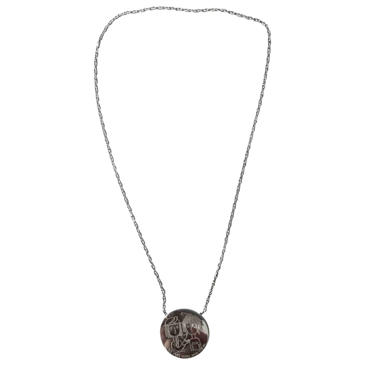 Collar Motifs Coeurs de Plata Non Signe / Unsigned