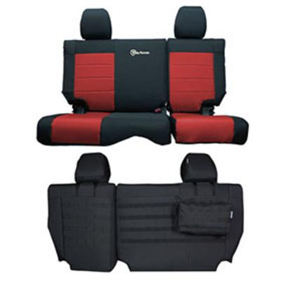 Bartact Tactical Series Rear Bench Seat Cover (Black/Red) - JKSC2013R2BR