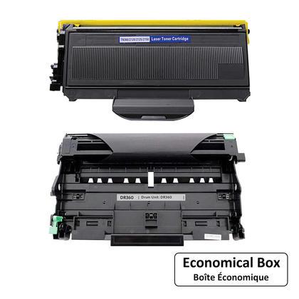 Compatible Brother TN360 DR360 cartouche de toner et tambour combo - boite economique