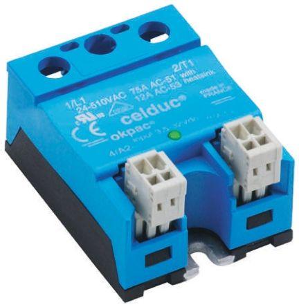 Celduc 75 A Solid State Relay, Zero Crossing, Panel Mount, Triac, 510 V rms Maximum Load