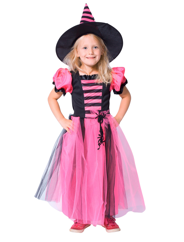 Kleid Hexe pink/schwarz