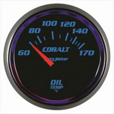 Auto Meter Cobalt Electric Oil Temperature Gauge - 6148-M
