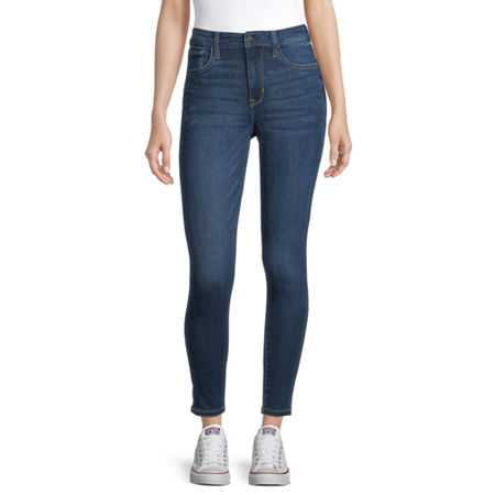 Arizona Womens High Rise Skinny Jeggings - Juniors, 19 , Blue