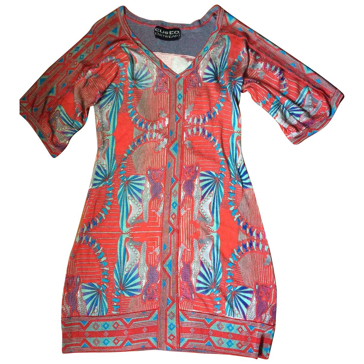 Non Signé / Unsigned Hippie Chic Multicolour dress for Women L International