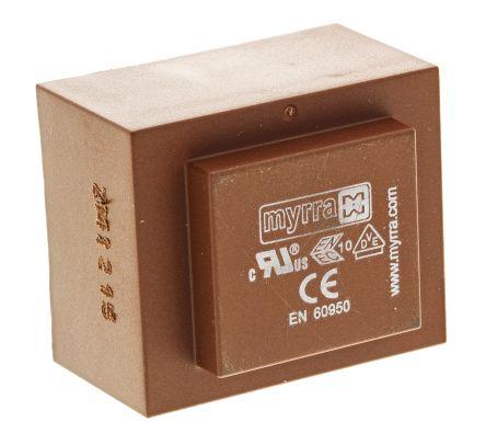 Myrra 6V ac 2 Output Through Hole PCB Transformer, 10VA