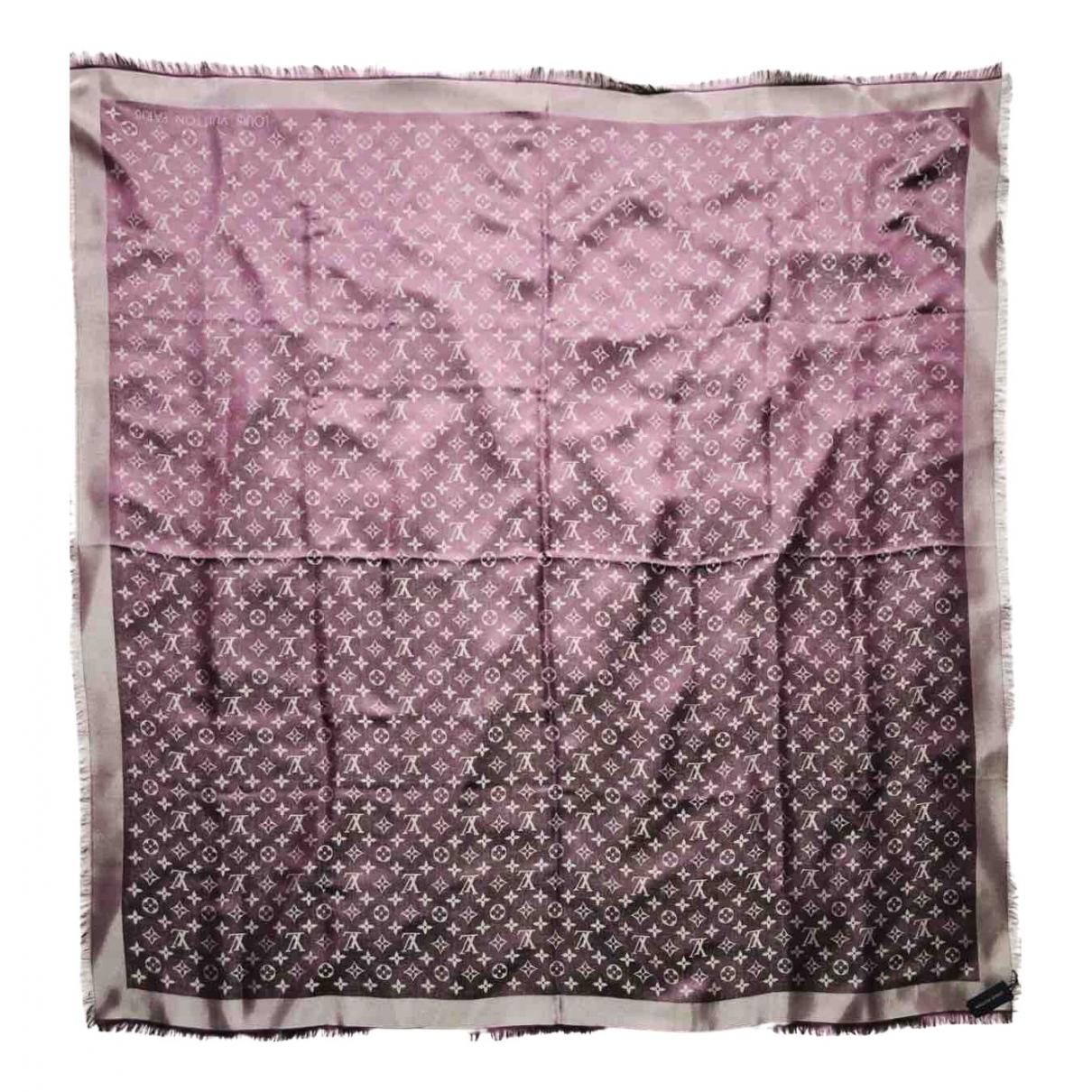 Louis Vuitton - Foulard Chale Monogram shine pour femme en soie - violet