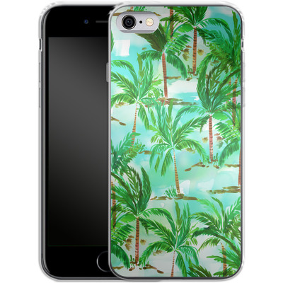 Apple iPhone 6s Silikon Handyhuelle - Palm Tree Green von Amy Sia