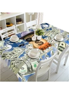 Unique American Style Dollar Prints Design Home Decorative 3D Tablecloth