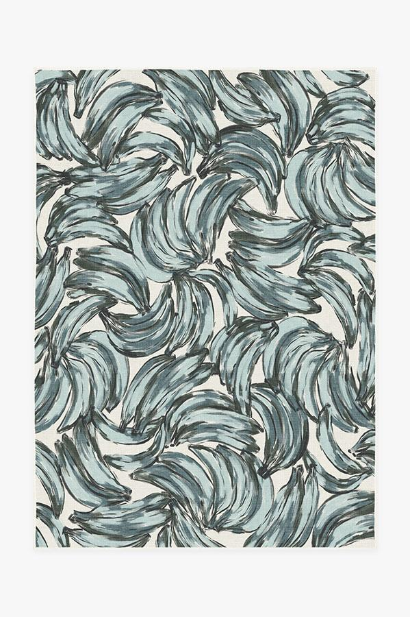 Washable Rug Cover | Bananas Blue Rug | Stain-Resistant | Ruggable | 5'x7'