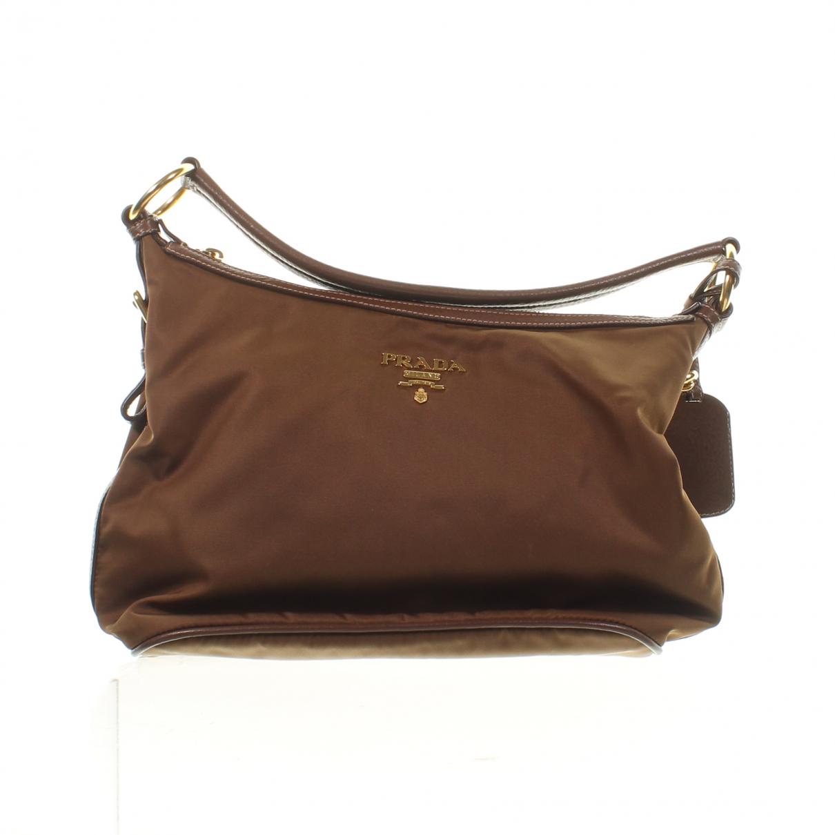 Prada \N Handtasche in  Braun Synthetik