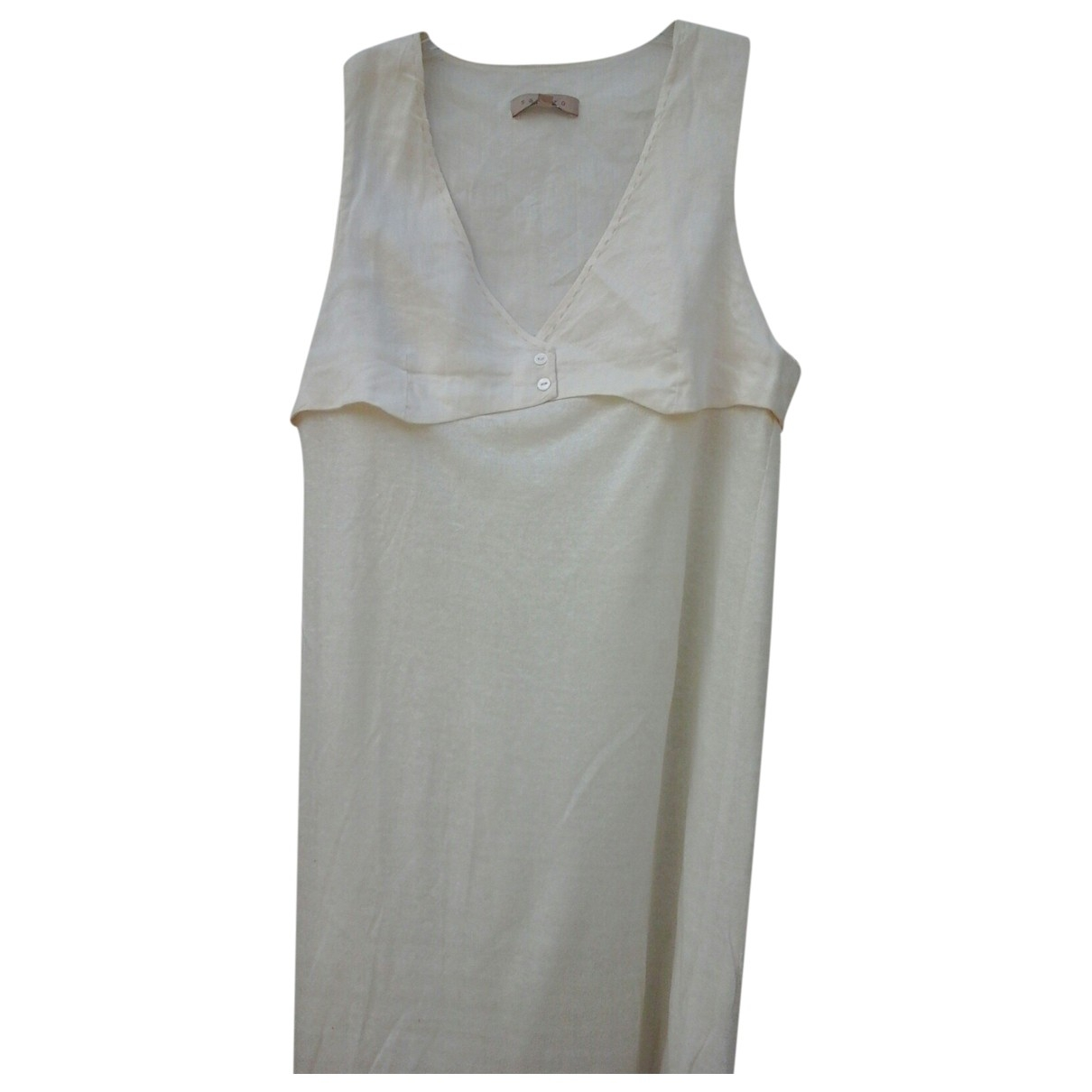 Sandro \N Kleid in  Beige Leinen