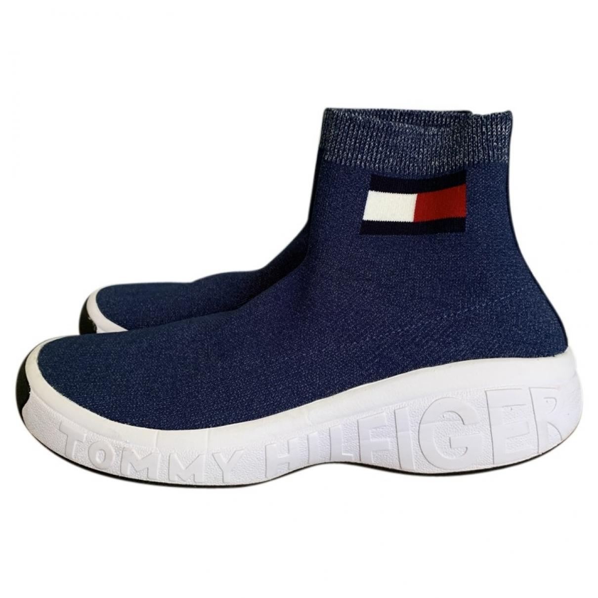 Tommy Jean - Baskets   pour homme en toile - bleu