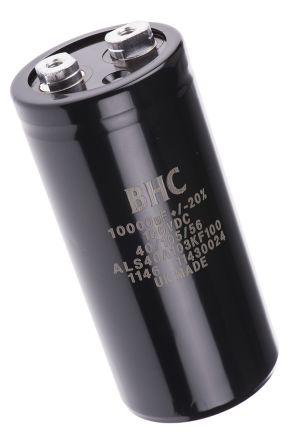 KEMET 10000μF Electrolytic Capacitor 100V dc, Screw Mount - ALS40A103KF100