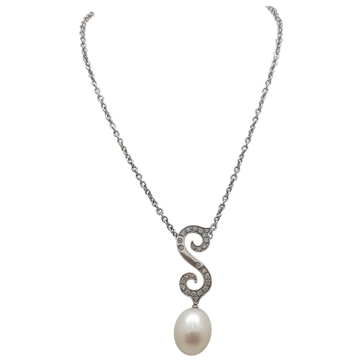 - Collier   pour femme en or blanc - blanc