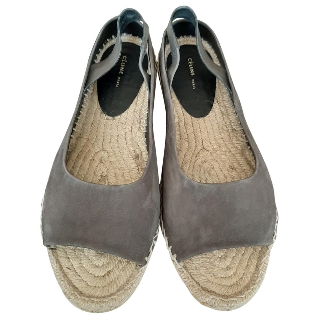 Celine - Espadrilles   pour femme en suede - gris