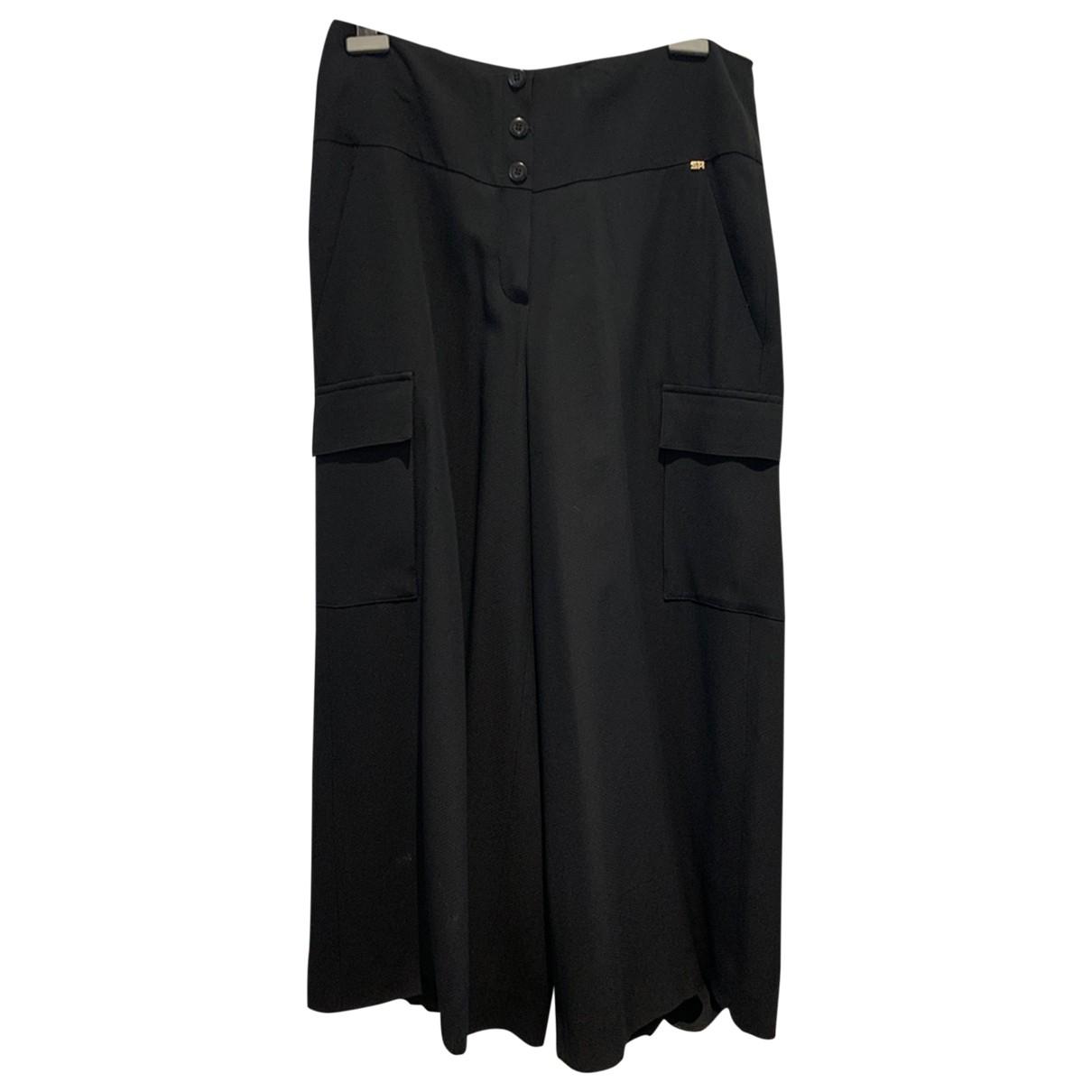 Sonia Rykiel \N Black Trousers for Women 46 FR