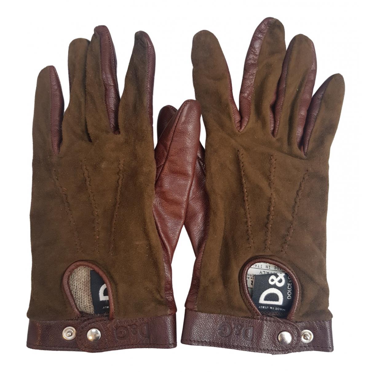 D&g \N Handschuhe in  Gruen Leder