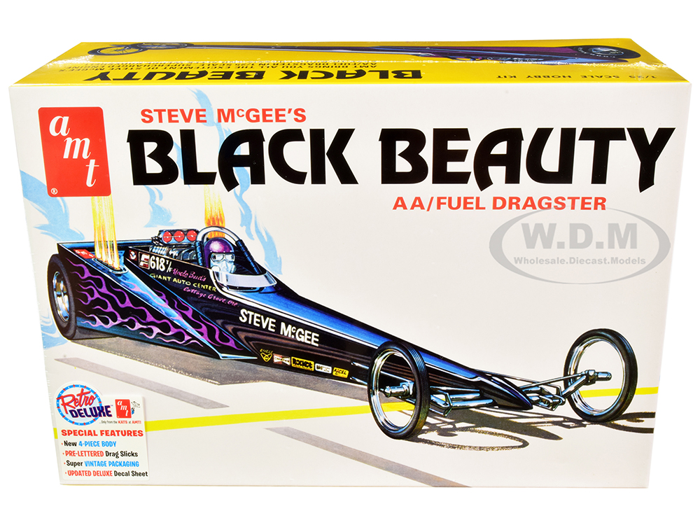 Skill 2 Model Kit Steve McGees Black Beauty Wedge AA/Fuel Dragster 1/25 Scale Model by AMT