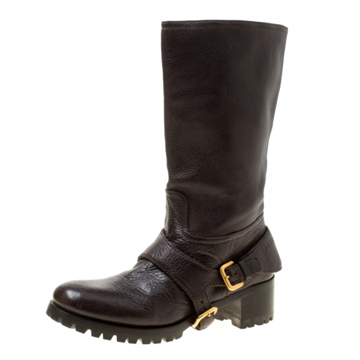 Prada \N Brown Leather Boots for Women 6 US