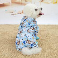 1pc Dog Cartoon Raincoat