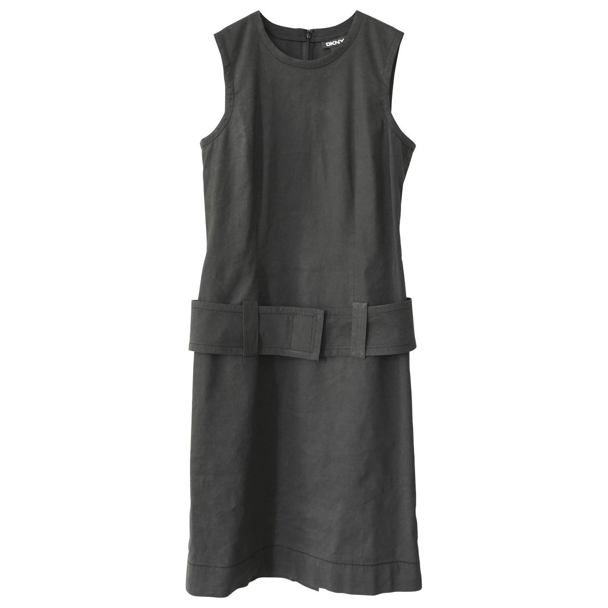 Dkny \N Black Linen dress for Women 6 UK