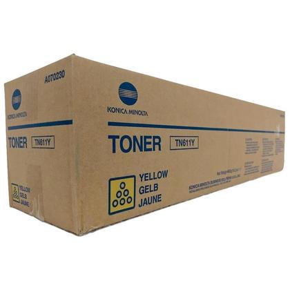 Konica-Minolta A070230 TN611Y Original Yellow Toner Cartridge
