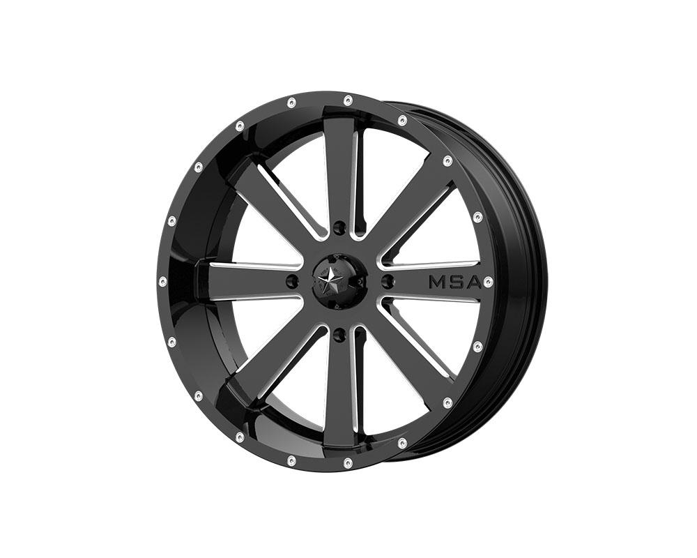 MSA Offroad Wheels M34-020737M M34 Flash Wheel 20x7 4x4x137 +0mm Gloss Black Milled