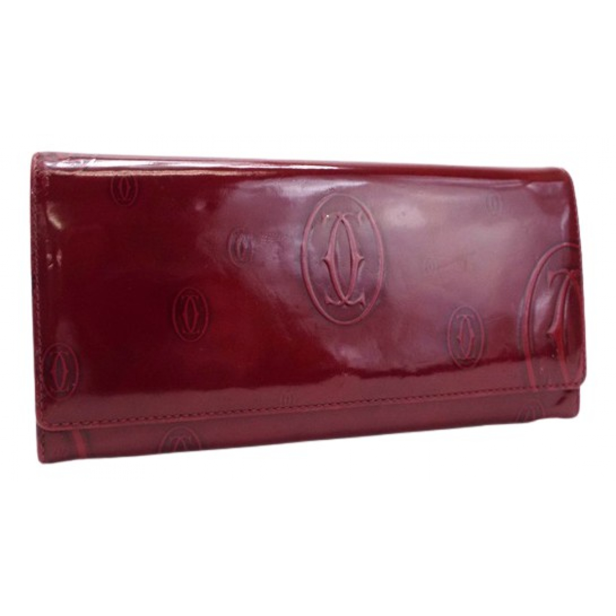 Cartier N Burgundy Patent leather wallet for Women N