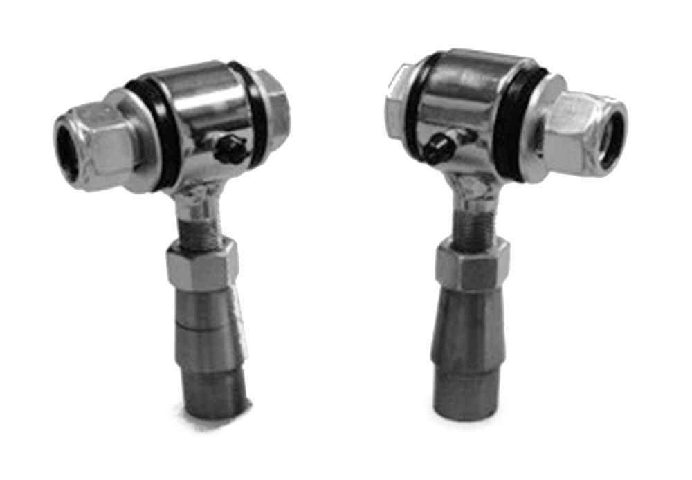 Steinjager J0001056 1.25-12 RH LH Poly Bushings Kits, Male 1/2 Bore x 2.50 Wide fits 2.000 x 0.250 Tubing Chrome Plated Bush Housing Two Poly Ends Per