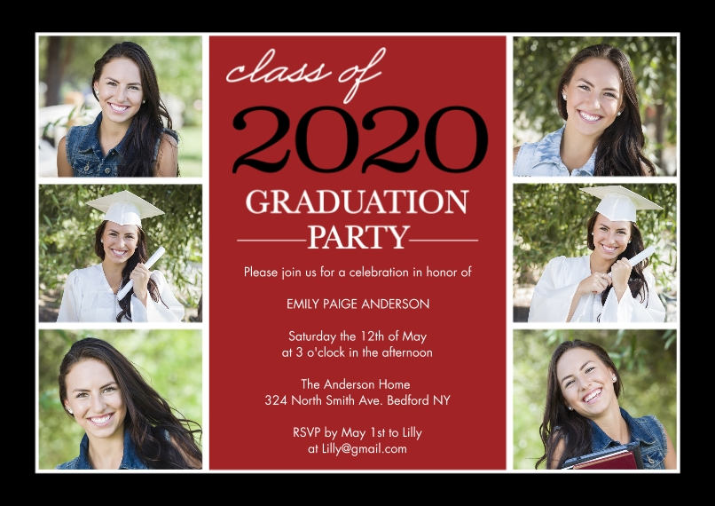 2020 Graduation Invitations 5x7 Cards, Premium Cardstock 120lb with Rounded Corners, Card & Stationery -Graduation Invite Stack 2020 by Tumbalina