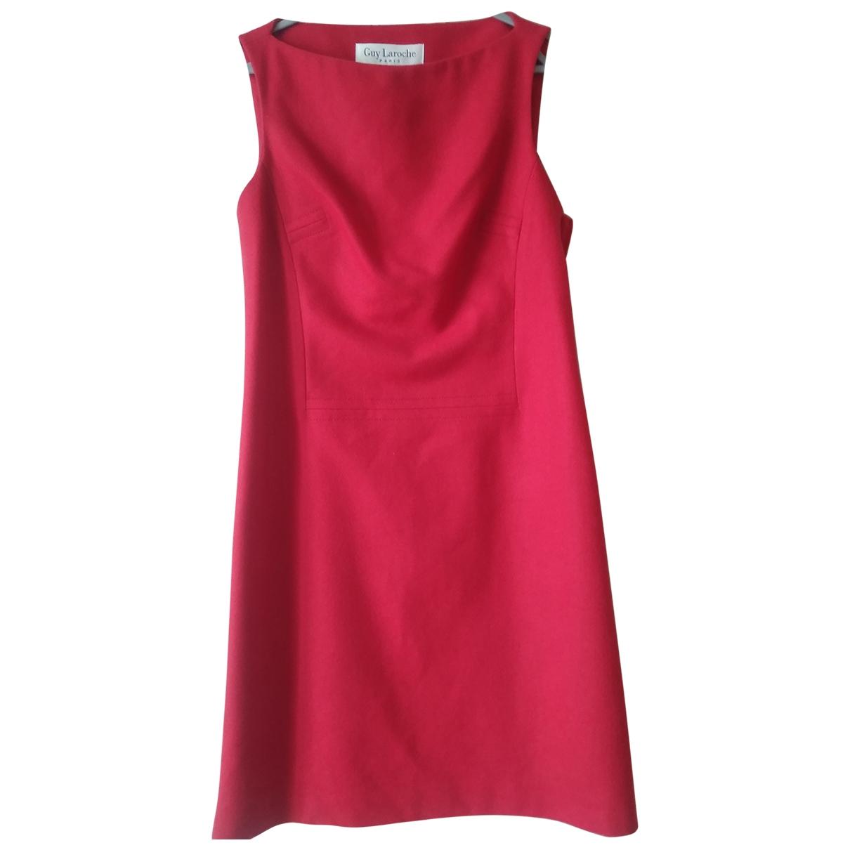 Guy Laroche \N Red Wool dress for Women 38 FR