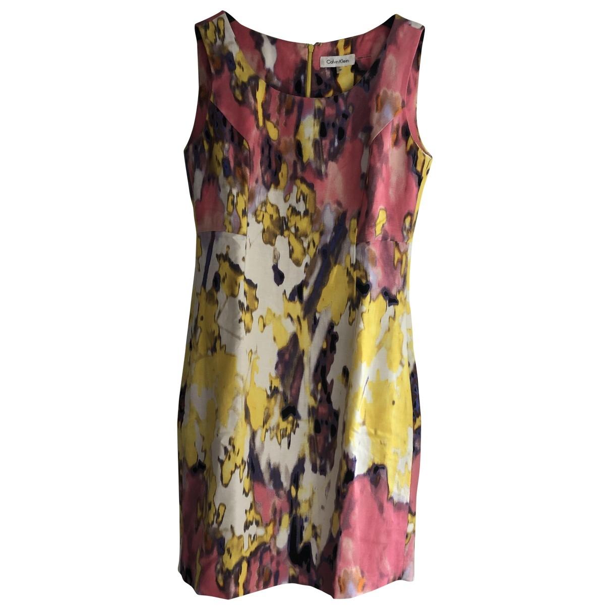 Calvin Klein - Robe   pour femme en lin - multicolore