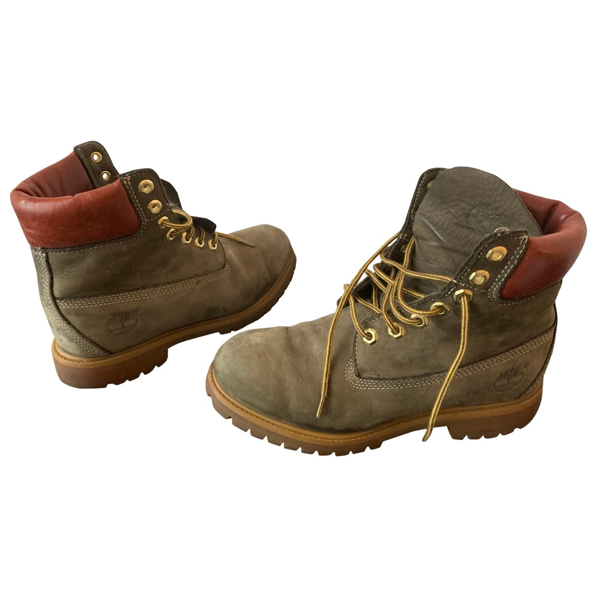 Timberland \N Green Leather Boots for Men 40 EU