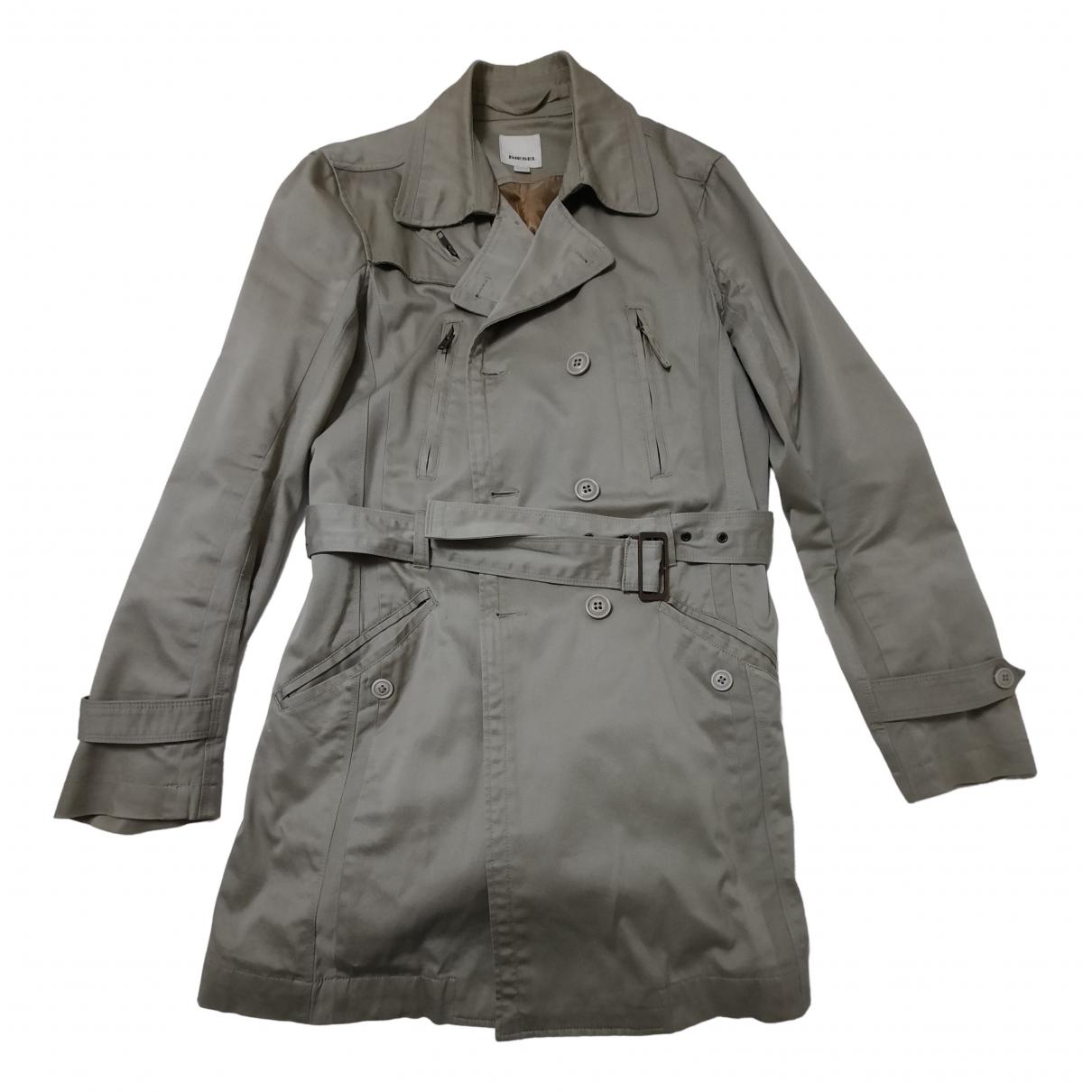 Diesel - Manteau   pour homme en coton - beige