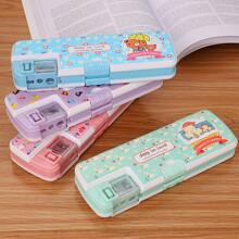1pc Cartoon Graphic Random Pencil Case