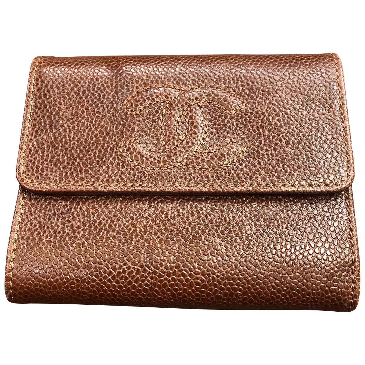 Chanel \N Portemonnaie in  Braun Leder