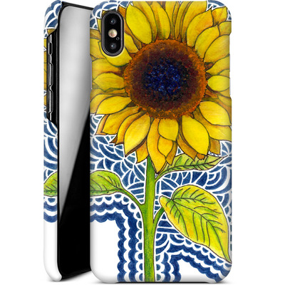 Apple iPhone XS Max Smartphone Huelle - Sunflower Drawing von Kaitlyn Parker