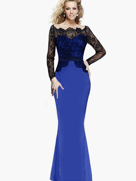 Milanoo Lace Mermaid Maxi Dress